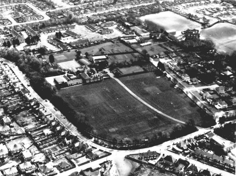 Aerial view of St Peter's circa 1970